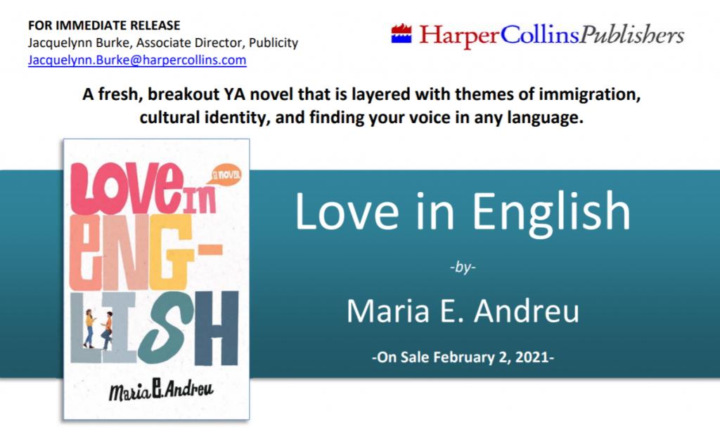 love in english press release